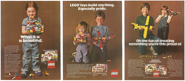 Vintage LEGO ads from Sociological Images
